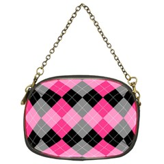 Seamless-argyle-pattern Chain Purse (two Sides) by Vaneshart