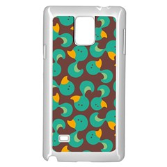 Vector-illustration-seamless-pattern-with-cartoon-duck Samsung Galaxy Note 4 Case (white)