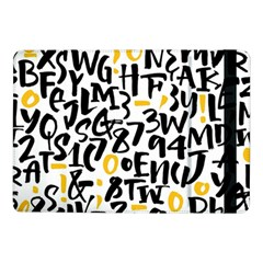 Letters-pattern Samsung Galaxy Tab Pro 10 1  Flip Case by Vaneshart