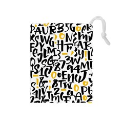Letters-pattern Drawstring Pouch (medium)
