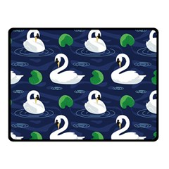 Swan Pattern Elegant Design Double Sided Fleece Blanket (small)