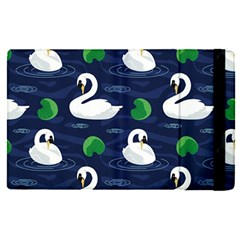 Swan Pattern Elegant Design Apple Ipad Pro 12 9   Flip Case