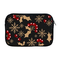 Christmas Pattern With Snowflakes Berries Apple Macbook Pro 17  Zipper Case by Vaneshart