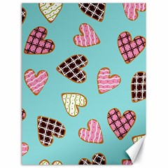 Seamless Pattern With Heart Shaped Cookies With Sugar Icing Canvas 18  X 24