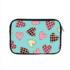 Seamless Pattern With Heart Shaped Cookies With Sugar Icing Apple Macbook Pro 15  Zipper Case by Vaneshart