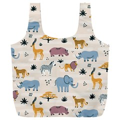 Wild Animals Seamless Pattern Full Print Recycle Bag (xxl) by Vaneshart