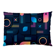 Gradient Geometric Shapes Dark Background Pillow Case