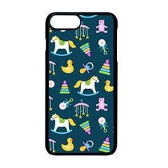 Cute Babies Toys Seamless Pattern Iphone 8 Plus Seamless Case (black)
