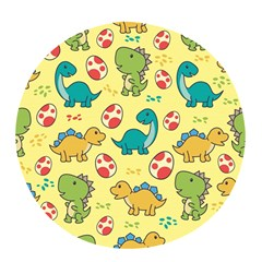 Seamless Pattern With Cute Dinosaurs Character Pop Socket (white)