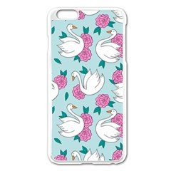 Classy-swan-pattern Iphone 6 Plus/6s Plus Enamel White Case