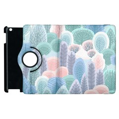 Abstract-seamless-pattern-with-winter-forest-background Apple Ipad 2 Flip 360 Case
