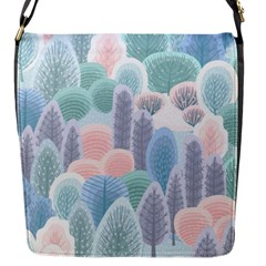 Abstract-seamless-pattern-with-winter-forest-background Flap Closure Messenger Bag (s) by Vaneshart