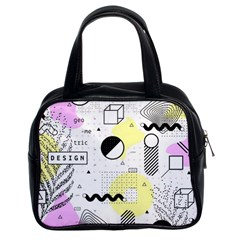 Graphic Design Geometric Background Classic Handbag (two Sides)