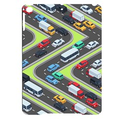 Urban-cars-seamless-texture-isometric-roads-car-traffic-seamless-pattern-with-transport-city-vector- Apple Ipad Pro 9 7   Black Uv Print Case