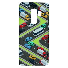 Urban-cars-seamless-texture-isometric-roads-car-traffic-seamless-pattern-with-transport-city-vector- Samsung Galaxy S9 Plus Tpu Uv Case