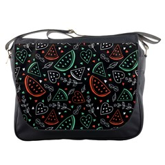 Seamless-vector-pattern-with-watermelons-mint -- Messenger Bag
