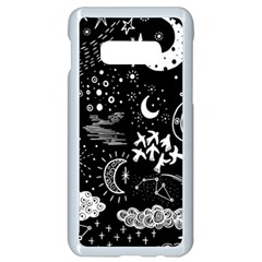 Vector-set-sketch-drawn-with-space Samsung Galaxy S10e Seamless Case (white)