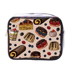 Seamless-pattern-with-sweet-cakes-berries Mini Toiletries Bag (one Side) by Vaneshart