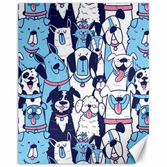 Dogs-seamless-pattern Canvas 11  X 14