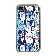 Dogs-seamless-pattern Iphone 4 Case (clear)