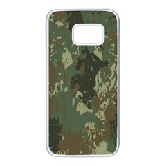 Camouflage-splatters-background Samsung Galaxy S7 White Seamless Case by Vaneshart