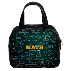 Realistic-math-chalkboard-background Classic Handbag (two Sides)