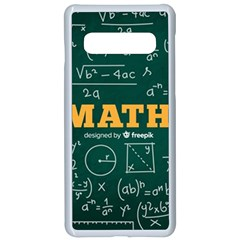 Realistic-math-chalkboard-background Samsung Galaxy S10 Seamless Case(white)