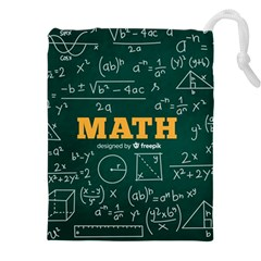 Realistic-math-chalkboard-background Drawstring Pouch (4xl) by Vaneshart