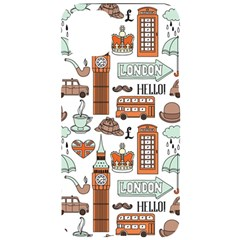 Seamless-pattern-with-london-elements-landmarks Iphone 11 Pro Max Black Uv Print Case