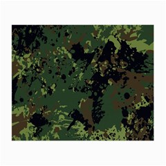 Military Background Grunge Small Glasses Cloth (2 Sides)