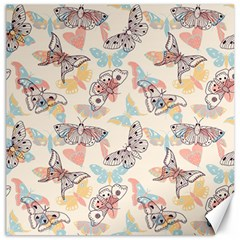 Pattern-with-hand-drawn-butterflies Canvas 12  X 12
