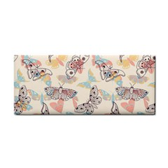 Pattern-with-hand-drawn-butterflies Hand Towel by Vaneshart