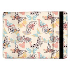 Pattern-with-hand-drawn-butterflies Samsung Galaxy Tab Pro 12 2  Flip Case
