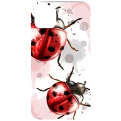 Ladybugs-pattern-texture-watercolor Iphone 11 Pro Max Black Uv Print Case