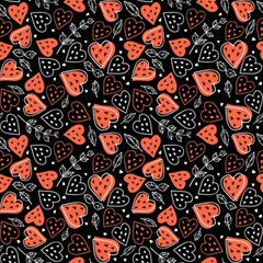 Seamless-vector-pattern-with-watermelons-hearts-mint Magic Photo Cube