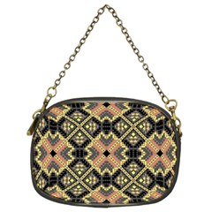 Seamless-mexican-pattern Chain Purse (two Sides)