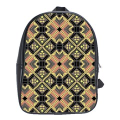 Seamless-mexican-pattern School Bag (large)