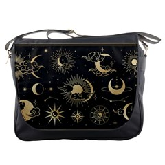 Asian-set-with-clouds-moon-sun-stars-vector-collection-oriental-chinese-japanese-korean-style Messenger Bag by Vaneshart