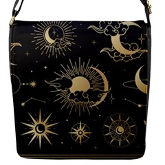 Asian-set-with-clouds-moon-sun-stars-vector-collection-oriental-chinese-japanese-korean-style Flap Closure Messenger Bag (s) by Vaneshart