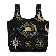 Asian-set-with-clouds-moon-sun-stars-vector-collection-oriental-chinese-japanese-korean-style Full Print Recycle Bag (l)