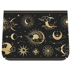 Asian-set-with-clouds-moon-sun-stars-vector-collection-oriental-chinese-japanese-korean-style Buckle Messenger Bag by Vaneshart