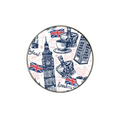 London-seamless-pattern Hat Clip Ball Marker (4 Pack) by Vaneshart
