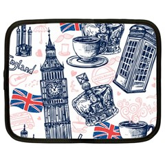 London-seamless-pattern Netbook Case (large) by Vaneshart