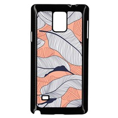 Floral-seamless-pattern-with-leaves-tropical-background Samsung Galaxy Note 4 Case (black) by Vaneshart