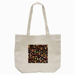 Winter-seamless-patterns-with-gingerbread-cookies-holiday-background Tote Bag (cream)