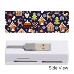 Winter-seamless-patterns-with-gingerbread-cookies-holiday-background Memory Card Reader (stick) by Vaneshart