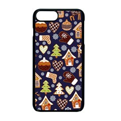 Winter-seamless-patterns-with-gingerbread-cookies-holiday-background Iphone 7 Plus Seamless Case (black)
