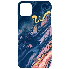 Liquid-abstract-paint-texture Iphone 11 Pro Max Black Uv Print Case