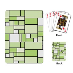 Green-geometric-digital-paper Playing Cards Single Design (rectangle)