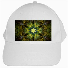 Fractal Fantasy Design Background White Cap